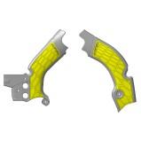 ACERBIS FRAME GUARD X-GRIP SUZUKI RMZ 450 08-17, GREY/YELLOW