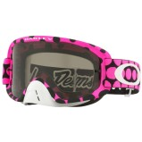 OAKLEY MX GOGGLE O FRAME 2.0 MX TROY LEE DESIGNS SERIES FADED DOT PINK - DARK GREY ANTI-FOG