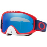 OAKLEY MX GOGGLE O FRAME 2.0 MX RED/NAVY - BLACK ICE IRIDIUM ANTI-FOG