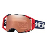 OAKLEY MX GOGGLE AIRBRAKE MX TROY LEE DESIGNS LIBERTY RWB - PRIZM BLACK IRIDIUM ANTI-FOG