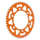 FRITZEL REAR SPROCKET ZACKENKÖNIG KTM SX/SX-F/EXC/EXC-F, 520 PITCH, ORANGE, ALUMINIUM, 46-52 TEETH
