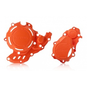 ACERBIS CLUTCH/IGNITION COVER PROTECTION X-POWER KTM SX-F 250/350 16-19, HUSQVARNA FC 250/350 16-19 - Orange