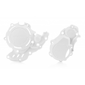 ACERBIS CLUTCH/IGNITION COVER PROTECTION X-POWER KTM EXC-F 350 17-18, KTM FREERIDE 2T/4T 2019, HUSQVARNA FE 250/350 17-18 - White