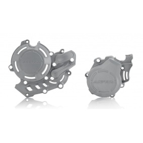 ACERBIS CLUTCH/IGNITION COVER PROTECTION X-POWER KTM EXC-F 450/500 17-19, SX-F 450 16-19, HUSQVARNA FC 450 16-19, FE 450 17-19, FE 501 2019 - Silver