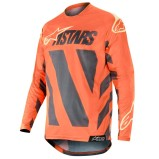 ALPINESTARS RACER JERSEY BRAAP - ANTHRACITE/ORANGE FLUO/SAND