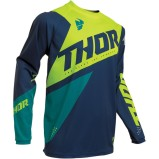 THOR KIDS JERSEY SECTOR BLADE Navy/Acid