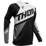 THOR KIDS JERSEY SECTOR BLADE Black/White