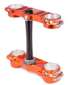 X-Trig ROCS Triple Clamp Kit - 20-22 MM OFFSET - ORANGE