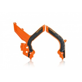 ACERBIS FRAME GUARD X-GRIP KTM EXC/EXC-F '20, - Orange/Svart