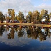 Bild på campingen från ön.