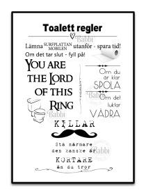 Toalett regler