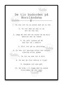 De 10 budorden på Norrländska