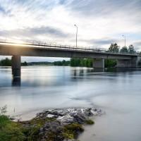 Bron mitt i Långsele över Faxälven