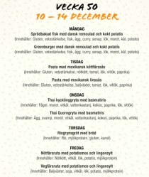 Klicka på menyn ovan för mera information om innehåll i maträtterna!