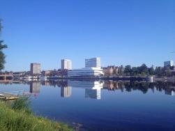Bild ifrån Umeälven. Copyright och fotograf Visitumea.