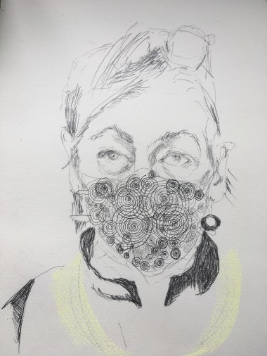 Selfportrait with Mask