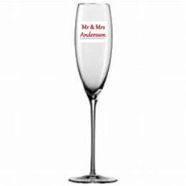 Namn text till glas Valfritt namn
