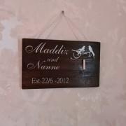 Bröllopstavla med valfritt namn+datum