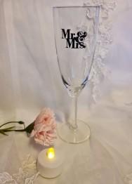 Mr&Mrs vinyltryck till glas