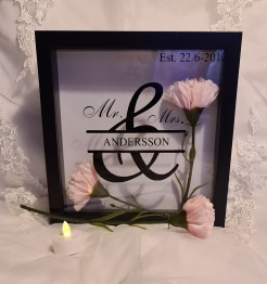 Bröllopstavla valfritt namn+datum