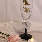 Champagneglas brudpar