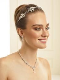 Tiara/hårband med pärlor och kristaller
