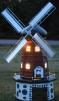 Väderkvarn - Mörkgrå med belysning solcell