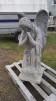 Stor hukande ängel  (obs vikten) - Stor hukande Ängel omålsd betong