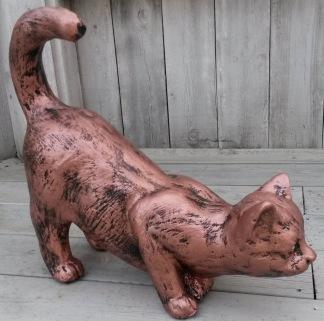 Katt Hukande - Katt hukand Kopparfärgad