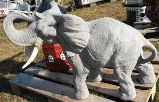 Afrikansk elefant - Afrikansk elefant ofärgad betong