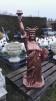Frihetsgudinnan - Frihetsgudinnan med nedre sockel kopparfärgad