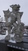 Gargoyle stående - Gargoyle stående ofärgad betong