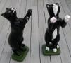 Katt på två ben - Katt på 2 ben Kulörfärgad