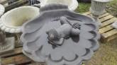 Fågelbad stor snäcka