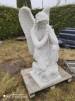 Stor hukande ängel  (obs vikten) - Stor hukande Ängel Ljusgrå