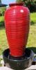 Fontän keramik - vas räfflad röd