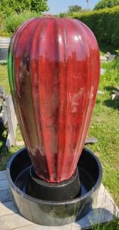 Fontän keramik - Fontän pumpa röd