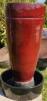 Fontän keramik - Fontän räfflad röd