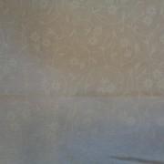 Bomullstyg vitt/vit blomma (Stof)