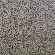 Bomullstyg vit-svart ros (Hopscotch)