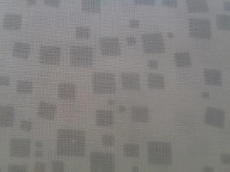 Bomullstyg vitt/grå ruta (Cat-i-tude)