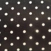 Bomullstyg svart/vit prick (Dot)