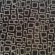Bomullstyg svart/vit ruta (Harmony)