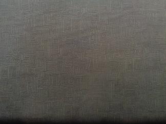 Bomullstyg svart labyrint (Bear Essentials)