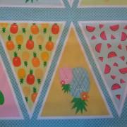 Bomullstyg vimplar (Fruity Friends)