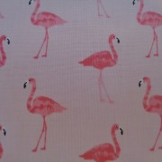 Bomullstyg rosa flamingos (Fruity Friends Flamingo)