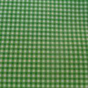 Bomullstyg grön/vit ruta (Gingham)
