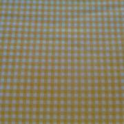 Bomullstyg gul/vit ruta (Gingham)