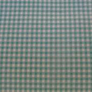 Bomullstyg turkos-vitt rutigt (Gingham)