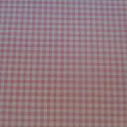 Bomullstyg rosa-vitrutigt (Gingham)
